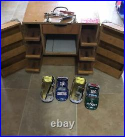 Slot Car Track Side Pit Box 1/24 Carrying case Wood, Custom Vintage Really Nice