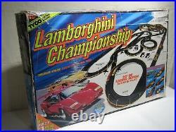 TYCO Lamborghini Championship 6240 Magnum 440 x 2 Slot Car Race Track 1994