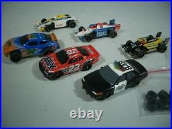 Tomy AFX International Super Challenge 4 Lane HO Slot Car Track Set With5 Cars