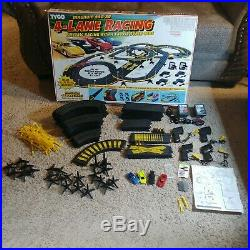 Tyco 4-lane Racing Slot Car Track Magnum 440 X2 Racetrack Set Complete Working