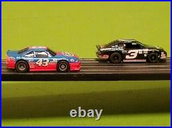 Tyco HO NASCAR Banked Double Oval Slot Car Race Track Set/Lot With #3 & #43