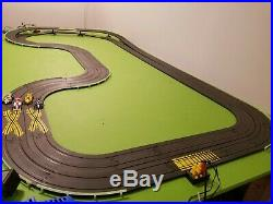 Tyco HO Slot Car Race Track Set Complete Lot 4 Lane Grand Prix with4 Indy Cars