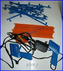 Tyco Mattel 41+ Piece BLUE Track Lot -15 Straights, Loops, Curves, Wall Pack +
