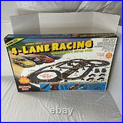 Tyco Maximum Heat Electric 4 Lane Racing Track withCars