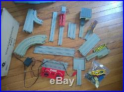 Tyco US 1 Electric Trucking Set Lot of Tracks Parts Slot Cars Vintage Toys Cargo