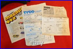 VINTAGE 1981 TYCO MAGNUM 440 PRO RACING SLOT CAR TRACK SET WithCARS TESTED WORKING