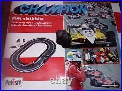 VINTAGE POLISTIL CHAMPION ELECTRIC RACING TRACKS 1/32 / pista elettrica anni 80