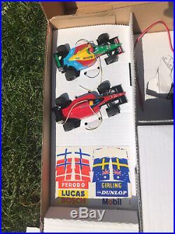 VINTAGE SCALETRIX Formula One Start Track Bridge Stickers Ferrari Benetton Boxed