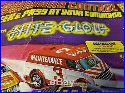 VINTAGE TYCO NITE GLOW SLOT RACING SET WithCARS TRACK box Awesome in box killer