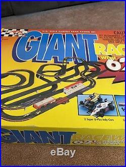 VTG AFX Tomy Super G-Plus Giant Raceway Slot Car Track Set Model 9868 Untested