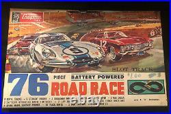 Vintage 1960s Aurora strombecker Cragston Racing Slot Car Set 16 Tracks MIB