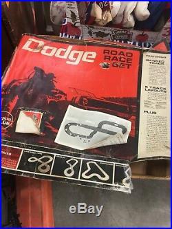 Vintage 1968 Eldon 1/32 Slot Car Dodge withCharger Road Race Track Set