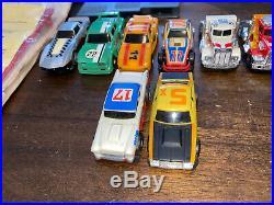 Vintage 1978 Ideal TCR Slotless Slot Cars Race Track Box Set Lot 8 cars untested