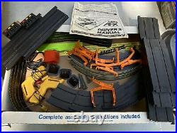 Vintage AFX Chevy Blazer 4x4 Lighted Rally Slot Car Set Box Track 2 Trucks