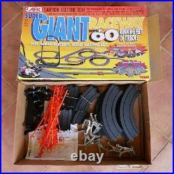 Vintage AFX Tomy SUPER Giant Raceway Track Slot Car Set Track Lot with Box HO
