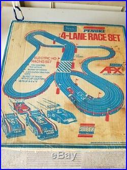 Vintage Aurora AFX Model Motoring Track Penske 4 lane Race Set/sold at SEARS