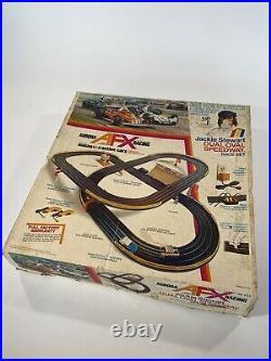 Vintage Aurora AFX Racing Jackie Stewart Dual Oval Speedway Race Set Slot Track