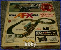 Vintage Aurora AFX Racing Twister Race Set with Lap Counter Slot Track 2265-770
