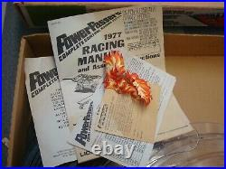 Vintage LIONEL SLOT CAR TRACK WithFIRE LEAP Lane Change Race Set-#3-3705 WithCARS