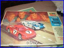 Vintage Monogram Le Mans Slot Track Set Ferrari 330 Ford GT40