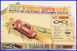 Vintage PARKWAY Electric Raceway HO Race Track Set, 1968 Super 8 13025 NO CARS