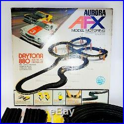 Vintage Retro AFX Aurora Daytona 880 2204 Slot Race Car Track Set Motoring