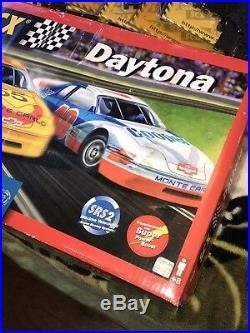 Vintage SCX PRO Daytona TECNI TOYS 132 ELECTRONIC SLOT CAR Set Plus Extra Track
