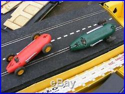 Vintage Scalextric Set Flyover Track Figures Etc