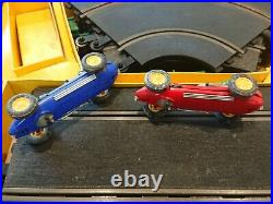 Vintage Scalextric Slot Car Set Lotus Many Boxed Extras track transformer 1960s
