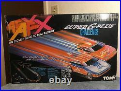 Vtg TOMY/AFX Super G Plus Challenge Set 8609 17FT Racing Track complete (tested)