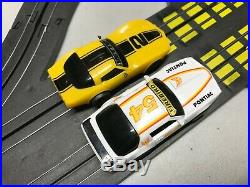 Vtg TYCO Slot Car Track Toy 41 Track Pcs 2 Cars Complete Working 2 Lane Single